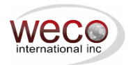 WECO International, Inc. Logo